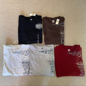Set of 5 - Men's Timberland Long Sleeve T-Shirts